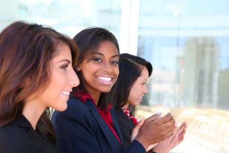 A diverse attractive woman business team at office building Stock Photo - 7159011