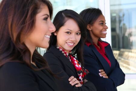 A diverse attractive woman business team at office building Stock Photo - 7213617