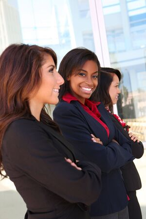 A diverse attractive woman business team at office building Stock Photo - 7213623