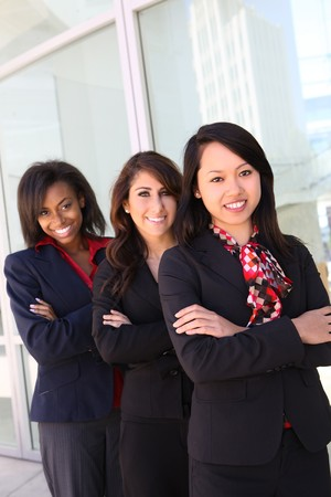 A diverse attractive woman business team at office building Stock Photo - 7224514