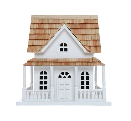 An old victorian house model isolated over white photo