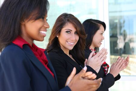 A diverse attractive woman business team at office building Stock Photo - 7479921