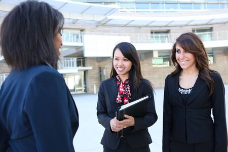 A diverse attractive woman business team at office building Stock Photo - 7528538
