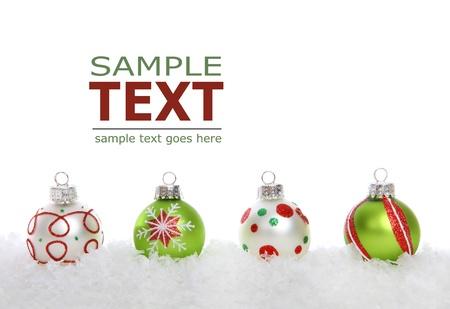 흰색 배경 위에 화려한 휴가 크리스마스 테두리