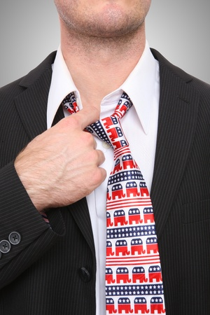 A Republican GOP senator or congress man with symbolic tie Stock Photo - 8580373