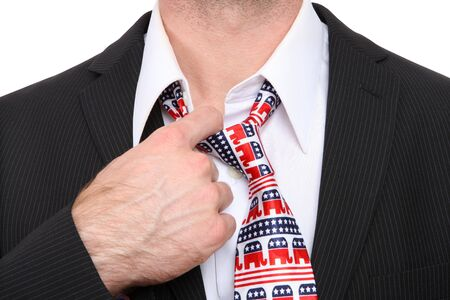 congressman: A Republican GOP senator or congress man with symbolic tie