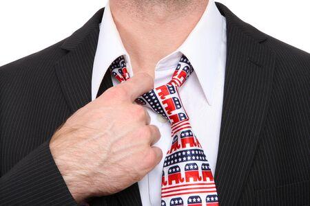 A Republican GOP senator or congress man with symbolic tie Stock Photo - 8764616