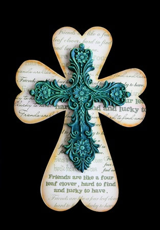 green cross: A religious Saint Patricks Day holiday cross Stock Photo