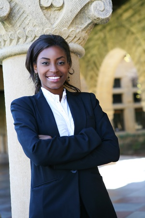 A pretty african american woman at college Stock Photo - 9817121