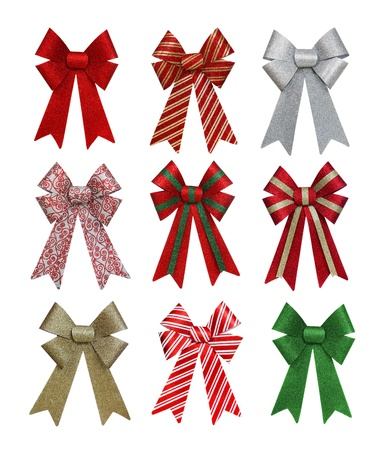 A set of colorful holiday bows isolation over white bcakground Stock Photo - 16513648