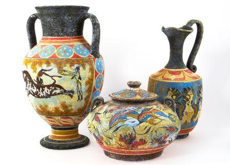vasi greci: Vasi greci su sfondo bianco
