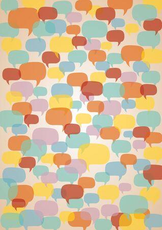 Concept background about conversation.