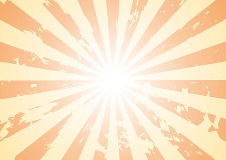 Basic sunburst background with grunge added to it. Stock Vector - 10994453