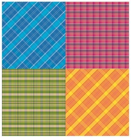 flannel: Set of plaid patterns