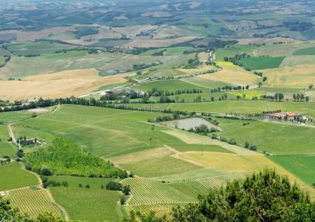 Panoramic views of the Tuscan hills photo