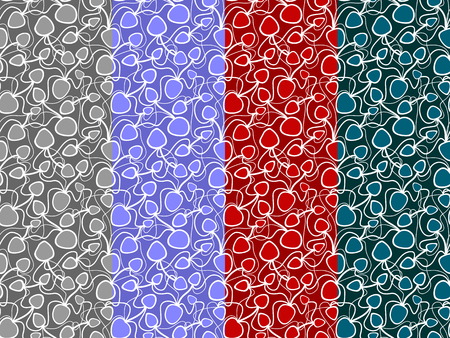 Abstract vector colorful seamless pattern. Bright hand drawn multicolor pattern on a tinted background for textile, wrapping paper, prints, fabric, wallpaper etc. Available in EPS format. Illusztráció