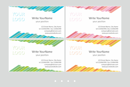 Minimalistic business card vector templates. Universal geometric design with light accent - just place your text. In EPS - CMYK - Calibri