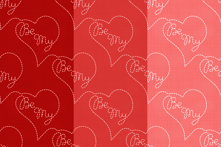 Be My vector seamless pattern. Flying hearts and spirit of love ornament for textile, prints, wallpaper, wrapping paper, web etc. Available in EPS