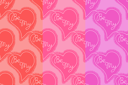 Be My seamless pattern. Flying hearts and spirit of love vector ornament for textile, prints, wallpaper, wrapping paper, web etc. Available in EPS Illusztráció