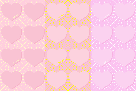 Be My vector seamless pattern. Flying hearts and spirit of love ornament for textile, prints, wallpaper, wrapping paper, web etc. Available in EPS Stock fotó - 115537100