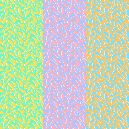 Pattern with convex separated paisley elements. Retro abstract ornament for textile, prints, wallpaper, wrapping paper, web etc. EPS Illustration
