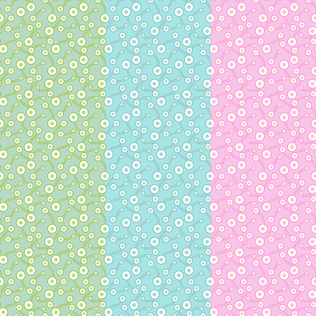 Flat pale abstract biological elements. Simple colorful ornament for textile, prints, wallpaper, wrapping paper, web etc. Available in EPS Illustration