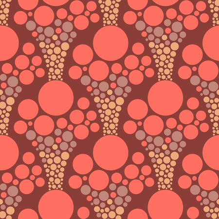 Abstract seamless geometric background with different organic forms. Vector minimalistic ornament for fabric, web page background, wallpaper, wrapping paper etc. In EPS