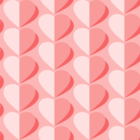 Valentine's day vector seamless pattern. Flying hearts and spirit of love ornament for fabric, web page background, wallpaper, wrapping paper etc. In EPS Stock fotó - 115537280