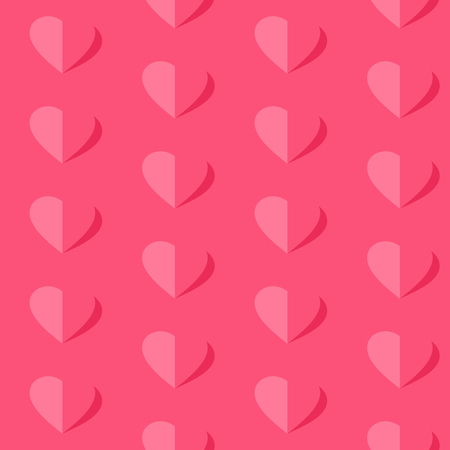 Valentine's day vector seamless pattern. Flying hearts and spirit of love ornament for fabric, web page background, wallpaper, wrapping paper etc. In EPS