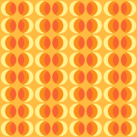 Seamless pattern with rounded geometric elements and color gradient. Abstract retro ornament for fabric, web page background, wallpaper, wrapping paper etc. In EPS