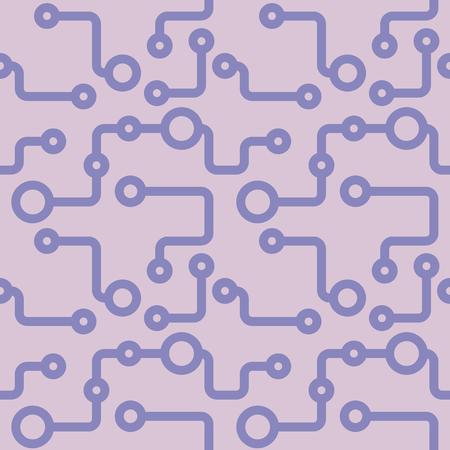 Pale purple abstract hand-drawn sketch. Vector circuit pattern for textile, prints, wallpaper, wrapping paper, web decor etc. Ilustração