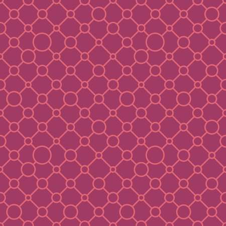 Simple classic geometric ornament with warm lines and circles. Vector seamless pattern for textile, prints, wallpaper, wrapping paper, web decor etc.