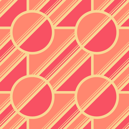 Retro geometric elements in pale colors - abstract lines and figures. Light vector seamless patterns for textile, prints, wallpaper etc. Available in EPS format.