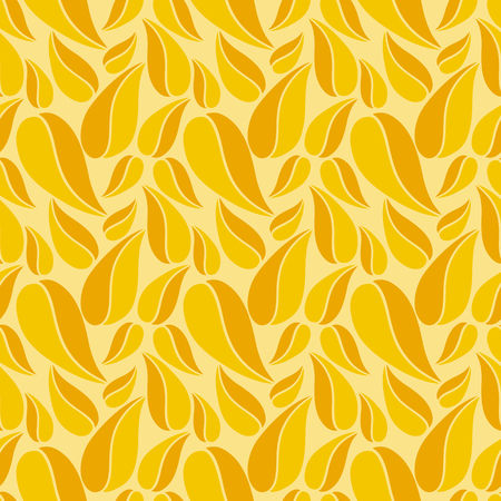 Flat vector seamless patterns with simple leaves on colored background for textile, prints, wallpaper, wrapping, web etc.  イラスト・ベクター素材