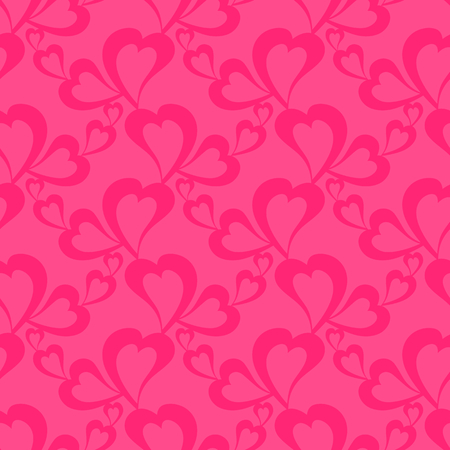 Flying hearts and spirit of love on vector colorful seamless pattern. Bright abstract ornament for textiles, prints, wallpaper, packaging, fabrics, etc.