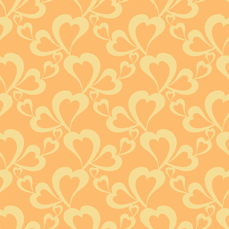 Flying hearts and spirit of love on vector colorful seamless pattern. Bright abstract ornament for textiles, prints, wallpaper, packaging, fabrics, etc. Stock fotó - 122863170