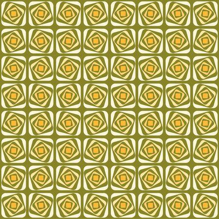 Vector swirl seamless pattern. Retro abstract geometric ornament for textile, prints, wallpaper, wrapping paper, web etc Ilustração Vetorial