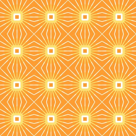 Vector seamless pattern with rays of color and power. Retro abstract geometric ornament for textile, prints, wallpaper, wrapping paper, web etc.