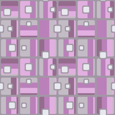 Abstract flat retro seamless pattern with rectangles. Timeless simple vector ornament for textile, wrapping paper, prints, fabric, wallpaper, web etc.