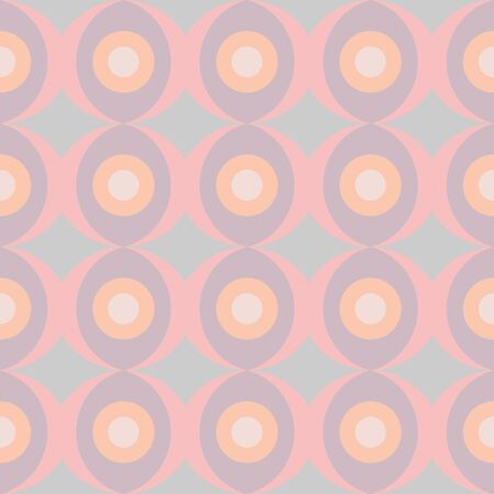 Abstract retro dotted flat seamless pattern with geometric garlands. Timeless simple vector pattern for textile, prints, fabric, wallpaper, wrapping paper, web etc.