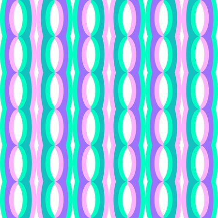 Abstract flat seamless pattern with oval chains. Timeless simple vector pattern for textile, prints, fabric, wallpaper, wrapping paper, web etc.