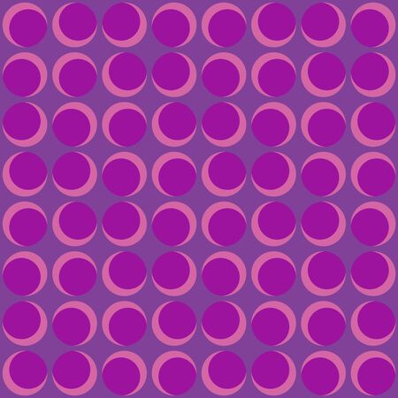 Abstract rounded geometric repeated pattern. Flat, retro design. Vector seamless pattern for textile, wallpaper, wrapping paper, prints, fabric, web background or other accent etc.
