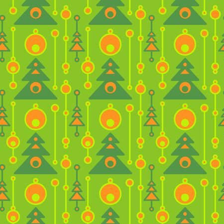 Colorful christmas seamless pattern. Repeated flat Xmas symbols. Simple vector composition for textile, wallpaper, wrapping paper, prints, fabric, web background or another accent etc.