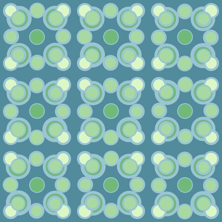 Abstract repeated circles. Flat, retro geometric design. Vector rounded seamless pattern for textile, wallpaper, wrapping paper, prints, fabric, web background or another accent etc. Vektoros illusztráció