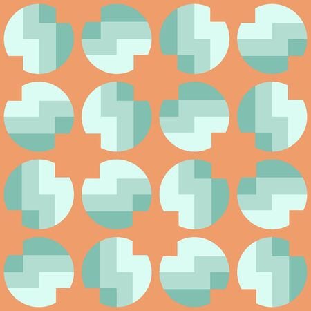 Simple abstract geometric design. Rounded repeated pattern for textile, wallpaper, wrapping paper, prints, surface design, web or another accent etc.