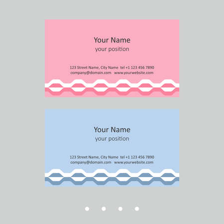 Modern business card template. Simple geometric style and two expressive color schemes - just add personal data.