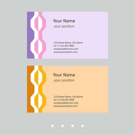 Modern business card template. Simple geometric style and two expressive color schemes - just add personal data. Vektoros illusztráció