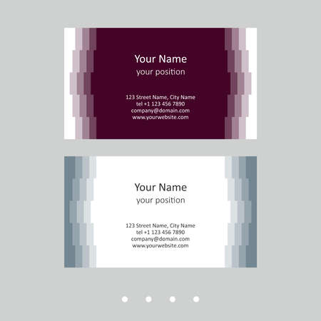 Simple business card template. Retro geometric style and two attractive color schemes - just add personal data.