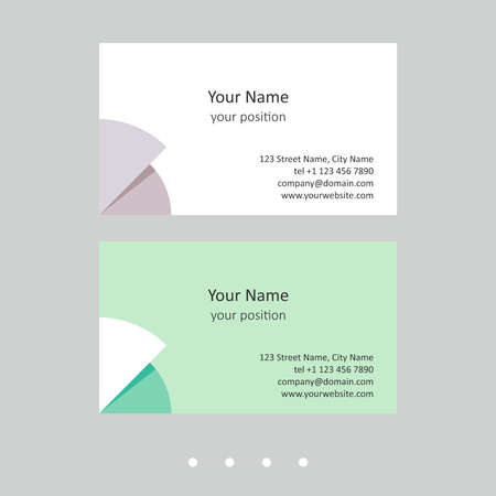 Editable business card template. Abstract geometric style and two attractive color schemes - just replace the example text with your personal data.