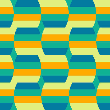 Clear shapes and colors will transform any surface and make it attractive. Seamless pattern for the web, advertising, textiles, printing products, and any design projects. Ilustração Vetorial